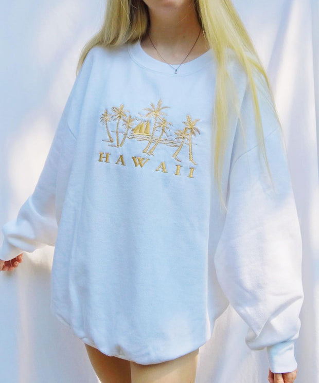 Women'S Modern Printed Color Long Sleeve Sweatshirt