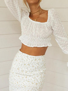Fashion square collar embroidered embroidery beach holiday halter top