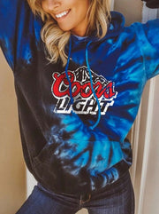 Women'S Light Print Tie Dye Sweatshirt