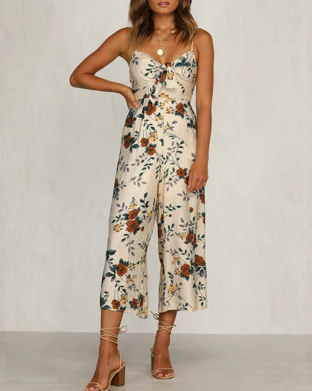 Printed beach summer jumpsuit