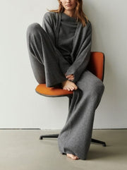 Women'S Fashion Casual Sweater And Pants Suit