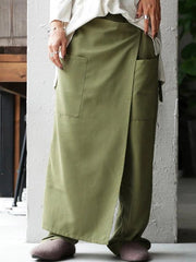 Women'S Solid Color Loose Wide Leg Culottes Pant