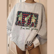 Women'S Fashion Christmas Loose Printed Sweatshirt