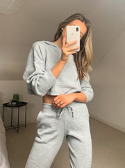Women'S Fashion Solid Color Loose Soft Sweater Suit