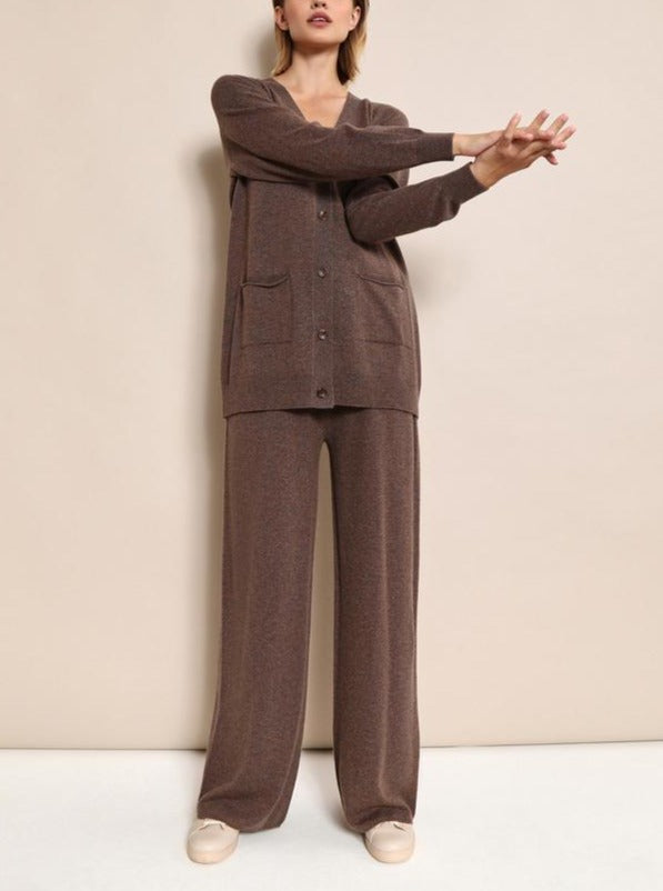 Women'S Fashion Casual Wool Blend Knitted Two-Piece Suit