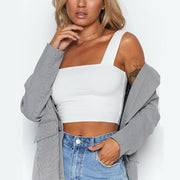 Fashion sexy exposed top