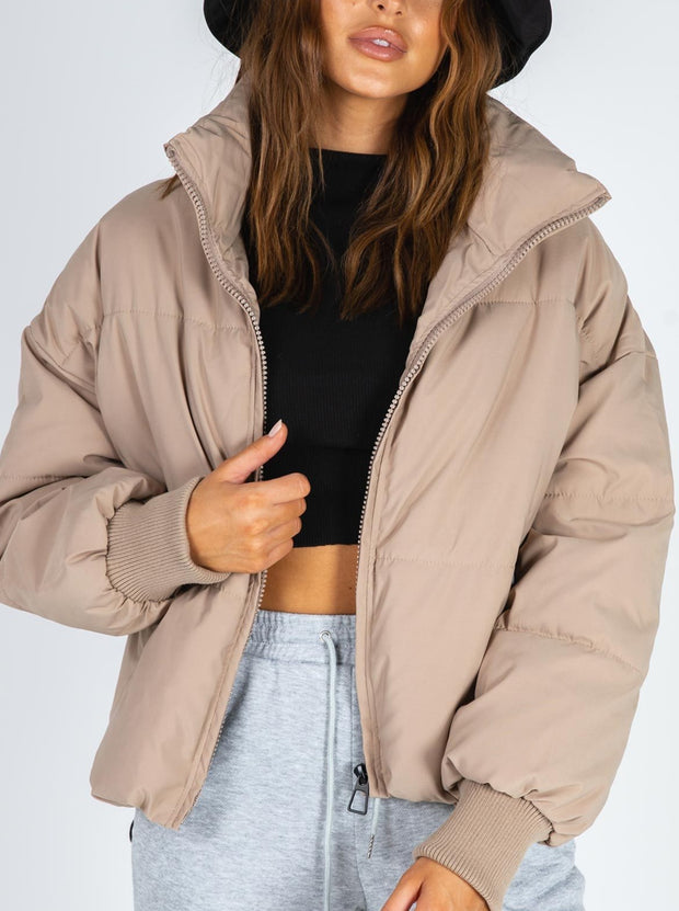 Women'S Oversized Thick Brown Coat