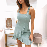 Women's Simple Solid Color Sling Dress