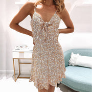 Fashion elegant floral print camisole dress