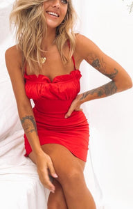 Women Opposites Attract Mini Red Dress