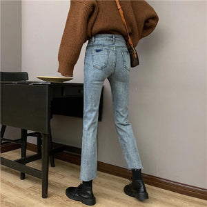 High-waist skinny pants jeans