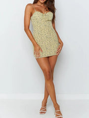 Sexy Sling Floral Vacation Slim Dress