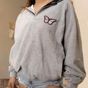 Womens Fashion Casual Pure Color Sweatshirt RY53