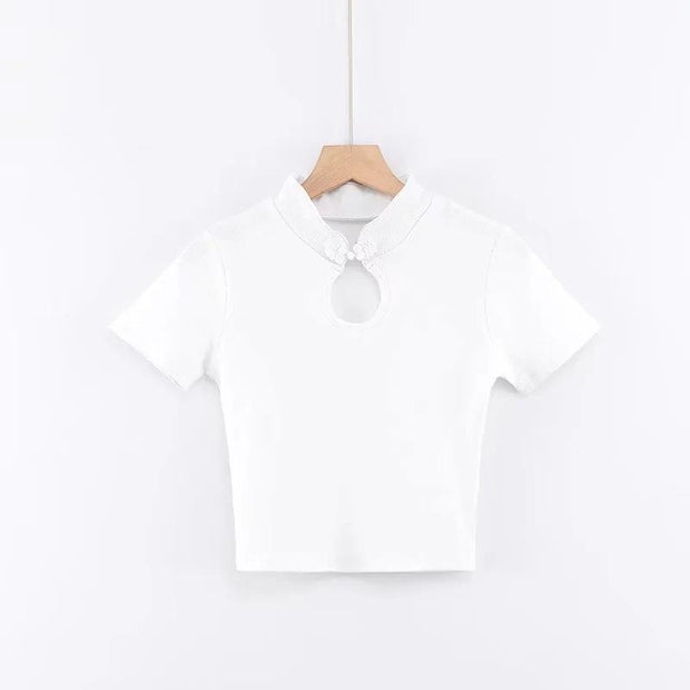 Slim-fit short-sleeved T-shirt