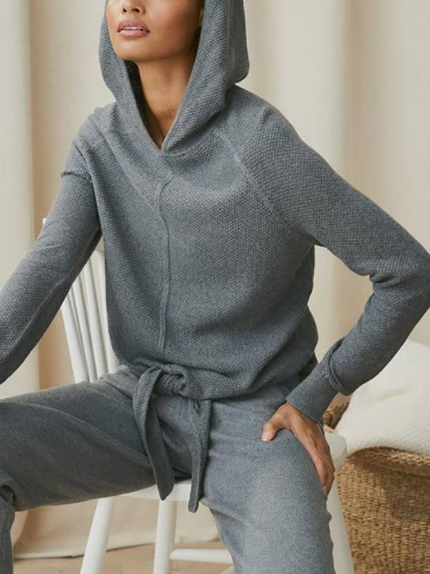 Women'S Fashion Solid Color Hooded Sports Suit