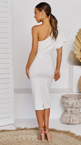 Fashion Slim Shoulder Short Sleeve Hip Bodycon Dress