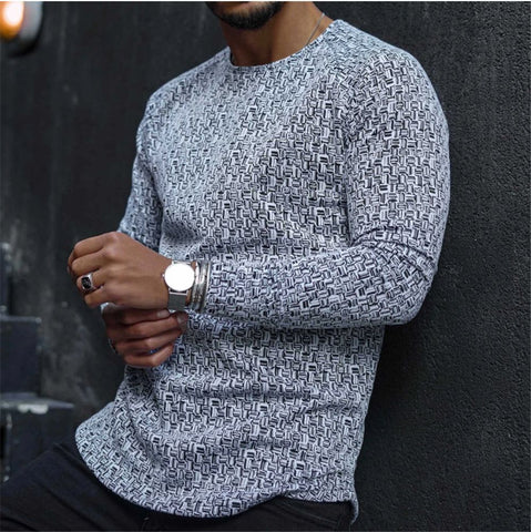 Man Casual Long Sleeve Round Neck Sweatshirts