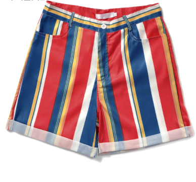 Fashion -ins style rainbow striped shorts