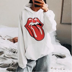 Womens daily casual printed hooded sweatshirt HH005