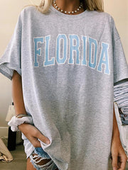 Round Neck Short Sleeve Florida Tee