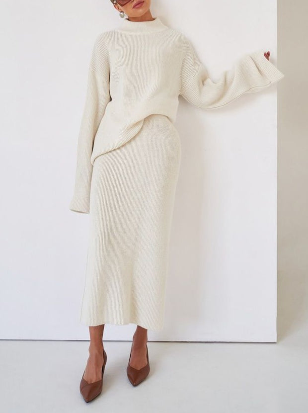Women'S Popular Solid Color Long Sleeve Two-Piece Suit