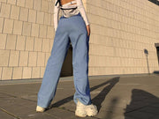 women's waist slim slim straight flared pants