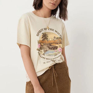Sunset Coconut Print T-shirt