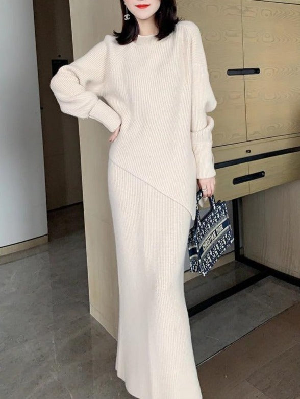 Women'S Chenille Furry Soft Waxy Skin-Friendly Sweater Half Dress