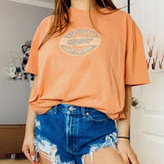 Round neck casual basic wild top T-shirt