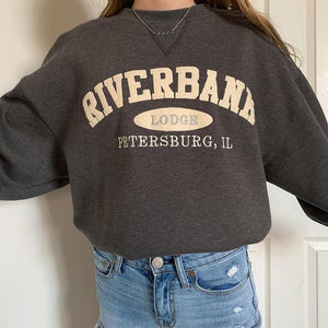 Casual Letter Printed Shoulder Sleeve Sweatshirt