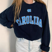Women's casual round collar letter printed sweatshirt RY53