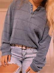 Ladies Fashion Daily Dark Grey Sweatshirt