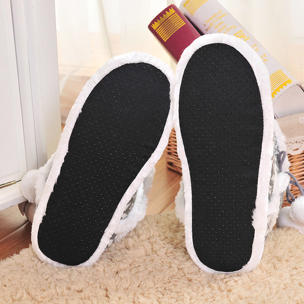 Women'S Fashion Cute Ball Yarn Indoor Shoes