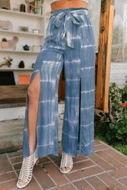 Women's tie dye split pants
