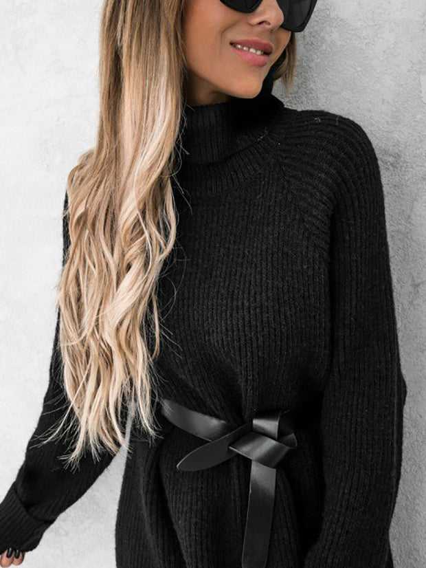 Women'S Two-Piece Fashion Solid Color Simple Sweater Suit