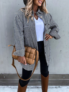 Fashion Loose Plaid Suit
