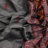 Handloom Bomkai Cotton Ikkat Saree