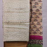 Handloom Tusser Silk Dress Material