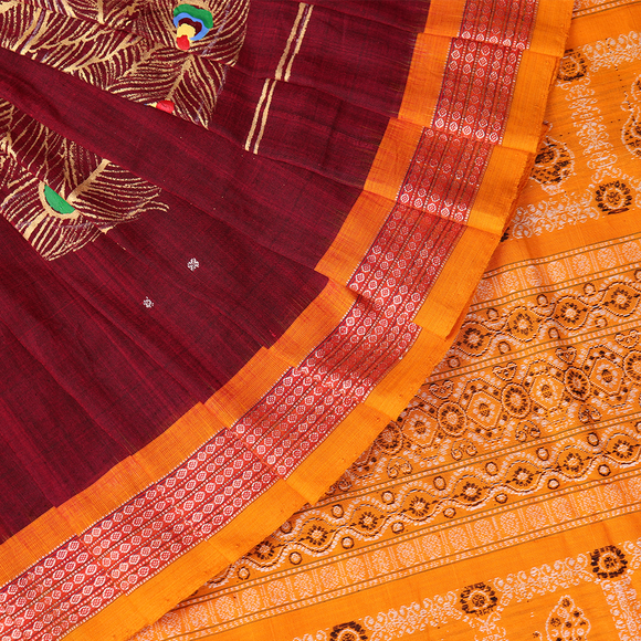 Handloom Sambalpuri Patachitra Cotton Saree