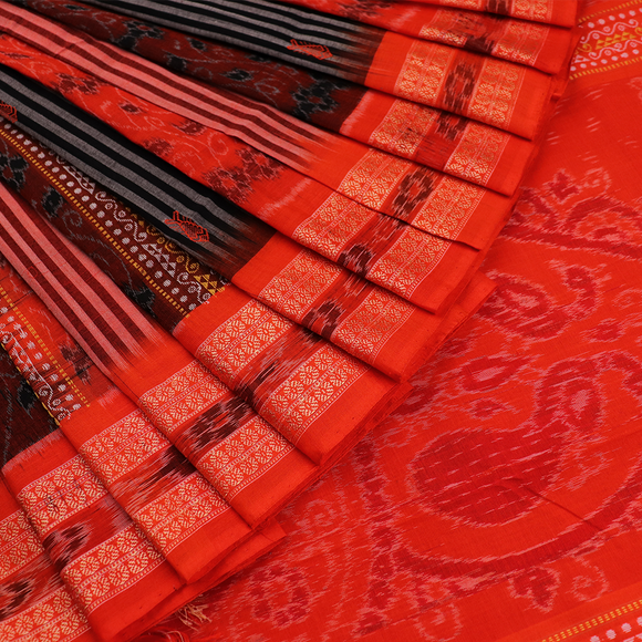 Handloom Sambalpuri Cotton Ikkat  Saree
