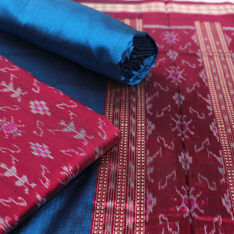 Handloom Sambalpuri Silk Dress Material