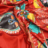 Handloom Patachitra Silk Saree