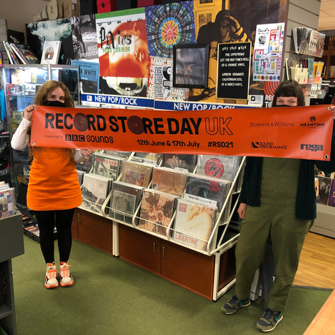 record store day banner advertising date