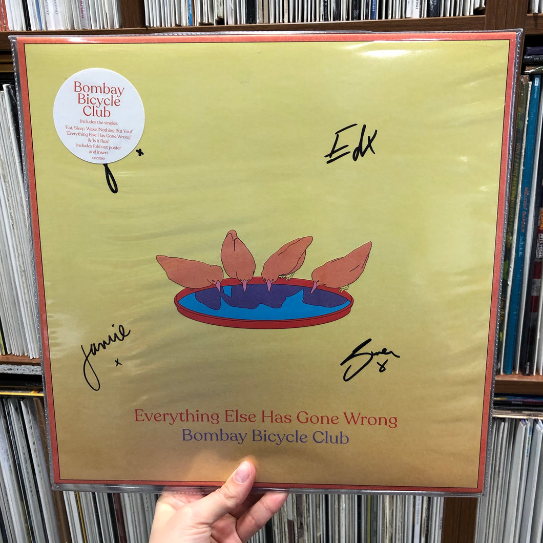 Bombay Bicycle Club - Everything Else Has Gone Wrong *signed* LP