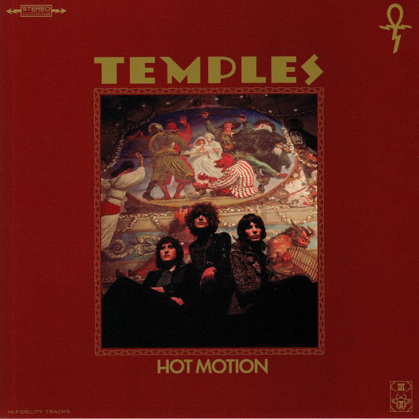 Temples - Hot Motion [US pressing 'Galaxy' vinyl + 'Zoetrope' sticker]