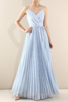 Volume tulle pleated dress