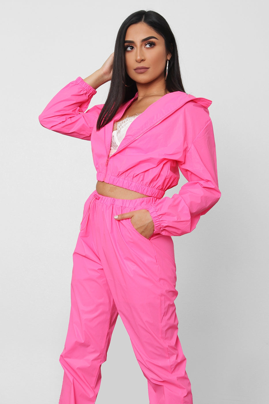 Reflective Two Piece Track Set (Pink)