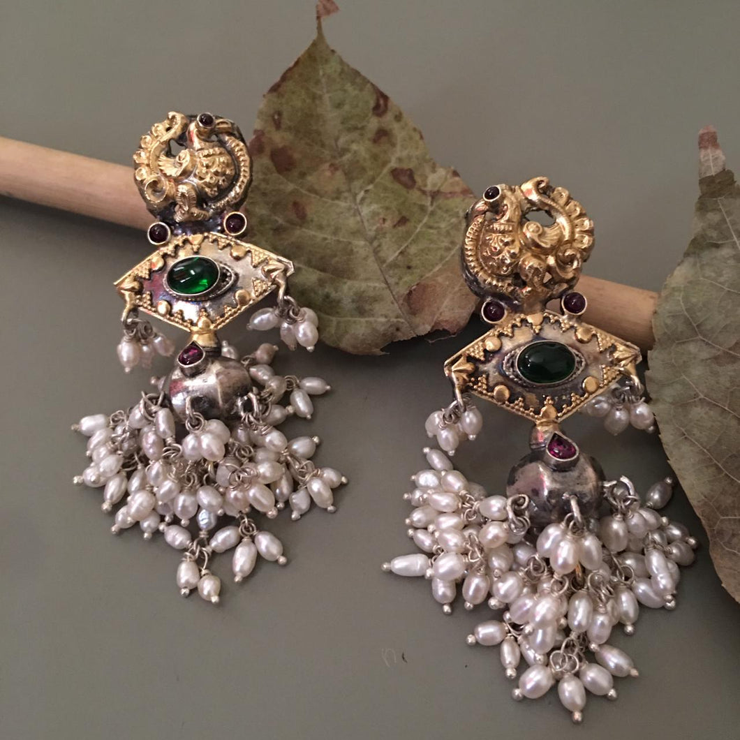 Dual Tone Statement Earring
