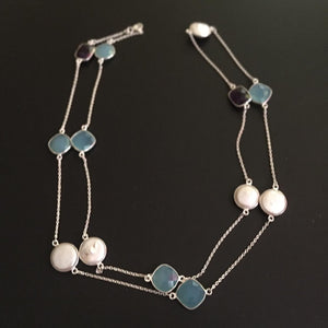 Gem Stone Multi Necklace