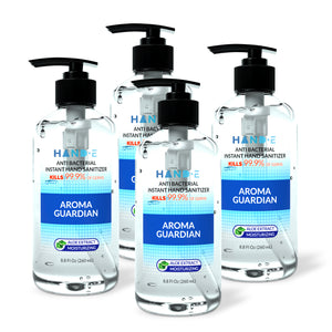 Hand-E Hand Sanitizer Gel Pump - 4 Pack, 8.8 oz Pump Bottle - 75% Ethyl Alcohol Based Instant Sanitizing Gel With Moisturizing Aloe - Kills 99.9% of Germs - Rinse Free